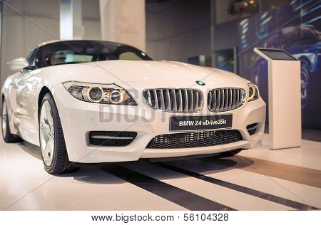 MUNICH, GERMANY - JUNE 17, 2012: Bmw Z4 Sdrive 35Is Roadster Coupe Automobile On Stand In Bmw Museum