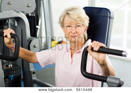 Senior Lady Working Out