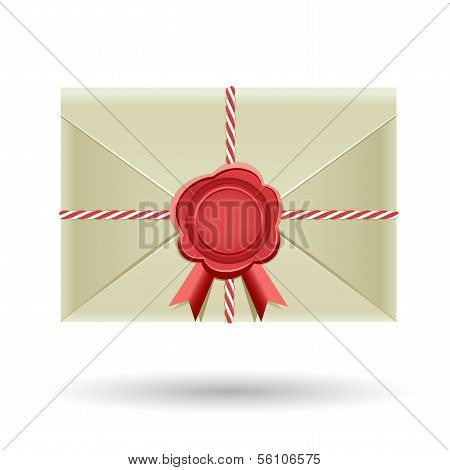 Closed envelope and seal