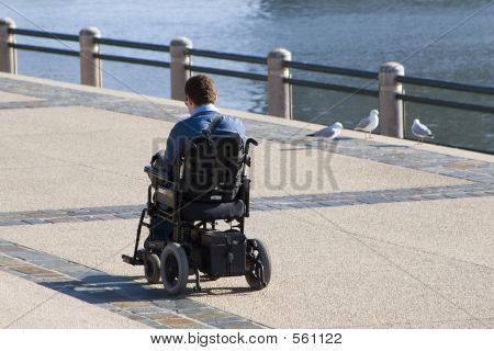 Disabled Person In Wheechair