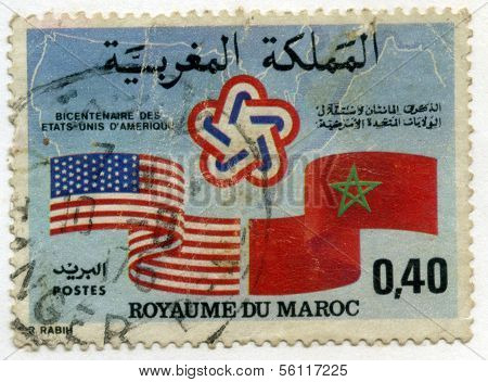 Stamp from Morocco US Independance Bicentenary