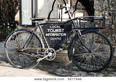 Bike with sign