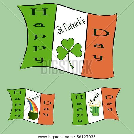 St Patrick's Day-flags
