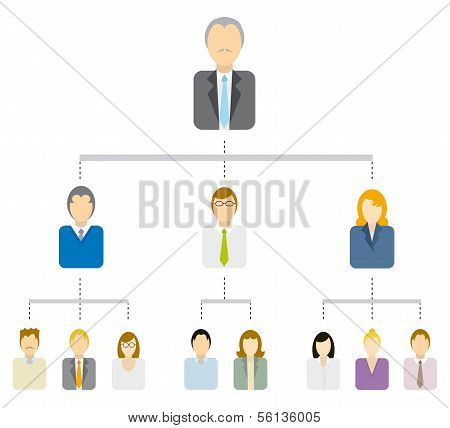 Hierarchical Tree Diagram or Business Structure