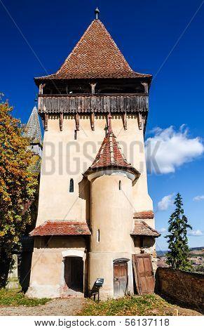Tower Of Biertan Medieval Church, Romania