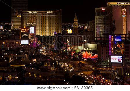 Las Vegas famous gambling strip
