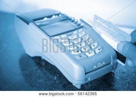 Closeup Of Payment Machine