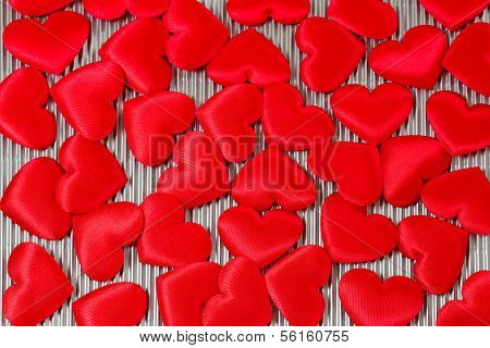 Lot Of Red Hearts