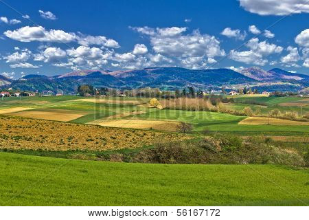 Beautiful Green Landscape Under Blue Sky