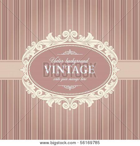 Vintage Background Frame Template