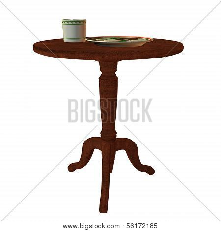 Table With Plate And Cup