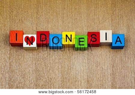 I Love Indonesia, Sign Series for Travel