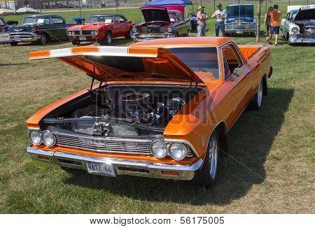 1966 Orange Chevy El Camino Front View
