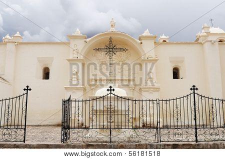 Colonial Church In Peru,