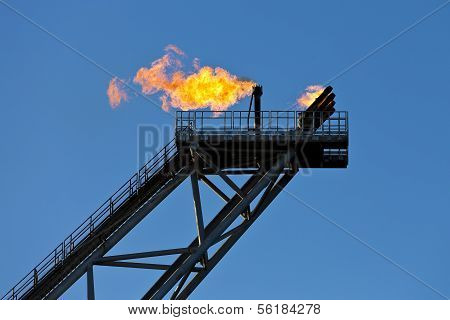 Oil rig flare stack