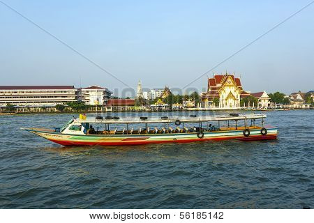People In The Boat At The River Mae Nam Chao Phraya In Bangkok