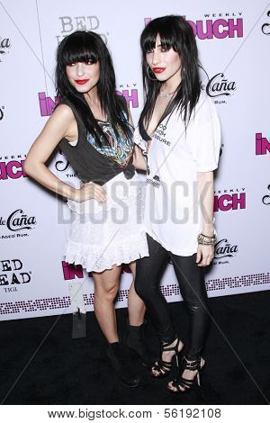 LOS ANGELES - SEP 7: Twin Sisters Lisa and Jessica Origliasso of the Veronicas at the In Touch VMA Post Party held at the Chateau Marmont, Hollywood, California, California. September 7, 2008.