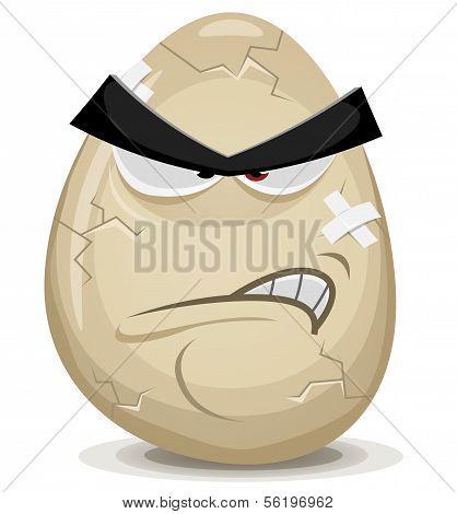 Angry Egg Character