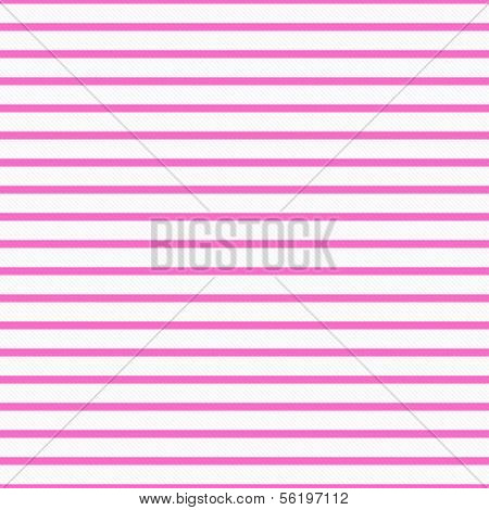 Thin Bright Pink and White Horizontal Striped Textured Fabric Background that is seamless and repeats poster