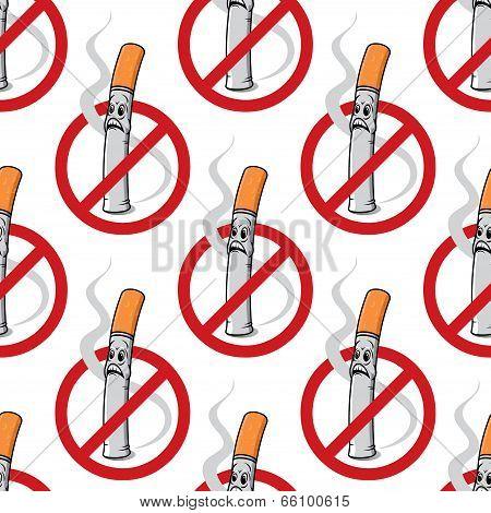 No Smoking seamless background pattern