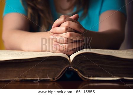 Praying Hands On Bible