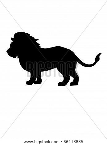 Lion vector silhouette