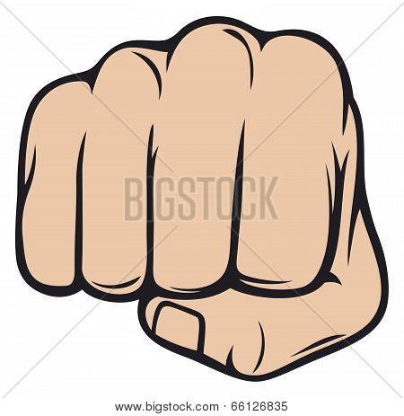 human fist punching