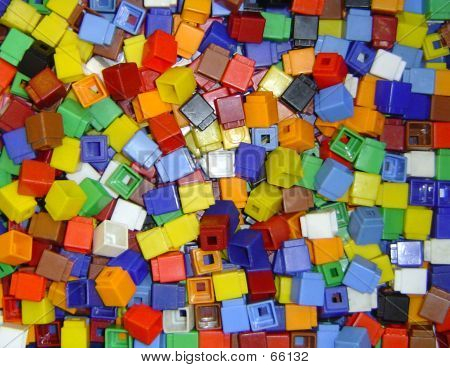 Children's Coloured Cubes