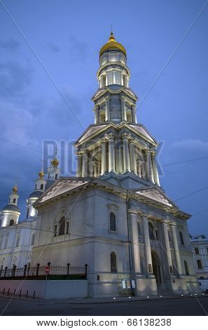 Cathedral of the Assumption at night in Kharkov