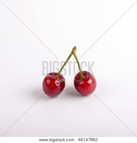 Twin Red Cherries