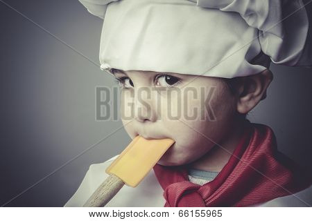 nutrition child dress funny chef, cooking utensils