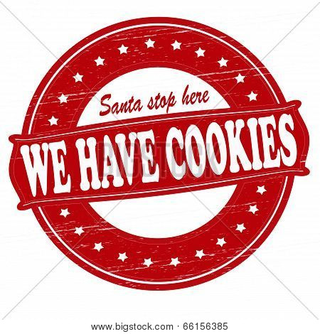 Stamp with text we have cookies inside vector illustration