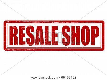 Stamp with text resale shop inside vector illustration
