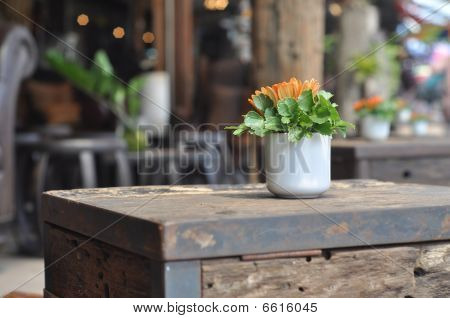 Cup Flower Table Wood