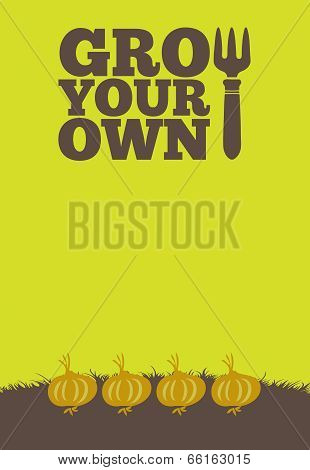 Grow Your Own Poster Onions
