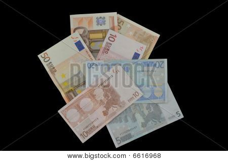 Euro Currency on Black