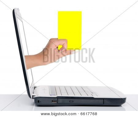 Hand With Blank