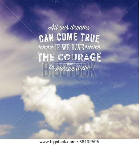 Quote Typographical Background, vector design.