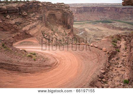 Mineral Bottom Switchbacks Dirt Road