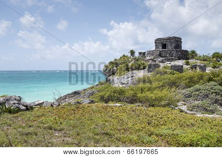 Tulum at Caribbean Sea