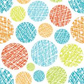 abstract seamless scandinavian colorful erased rounds wall background pattern design poster