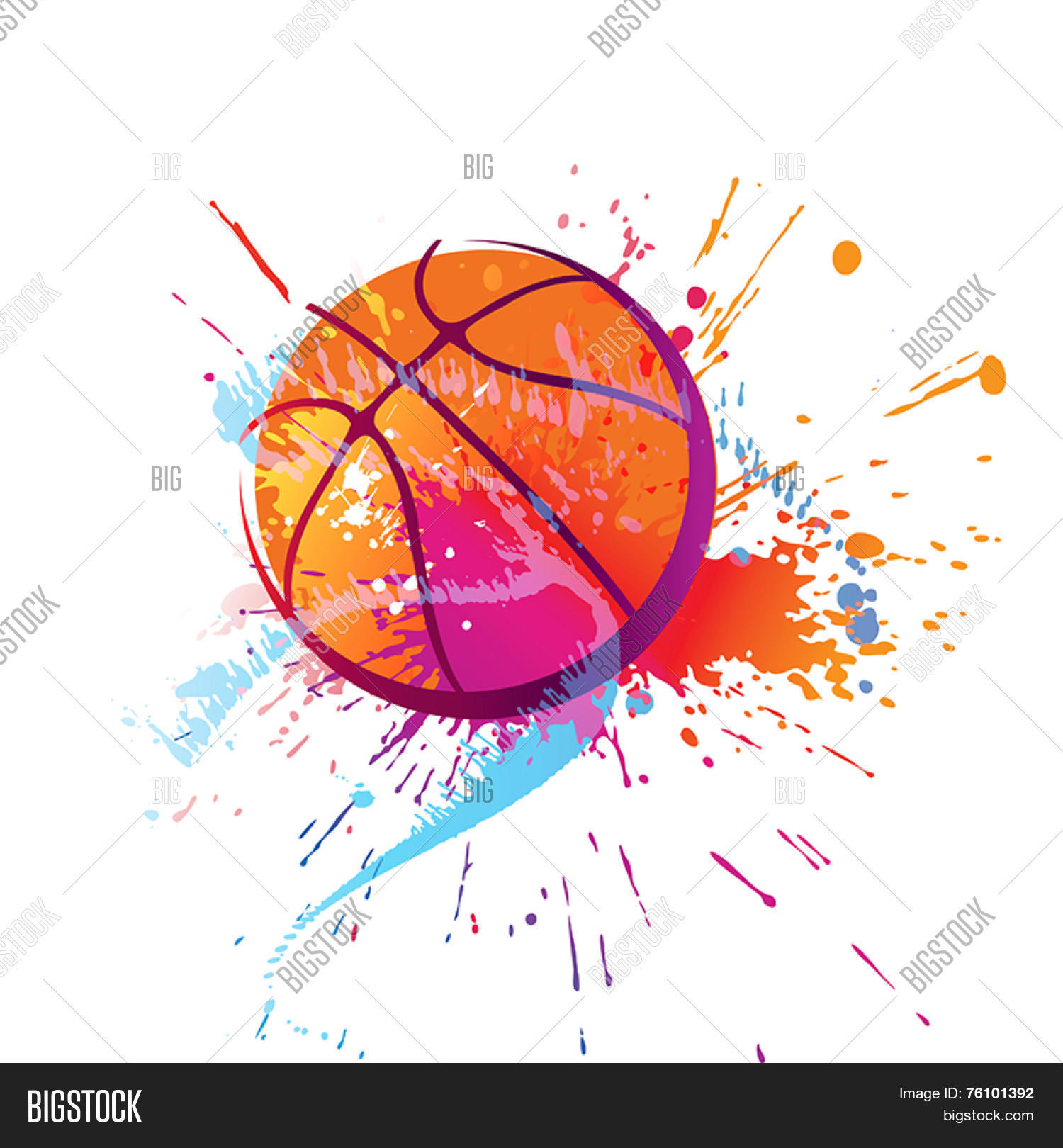 Colorful Basket Ball Vector Photo Free Trial Bigstock