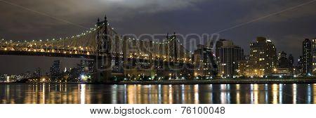 Queensboro Bridge And Manhattan From Queens