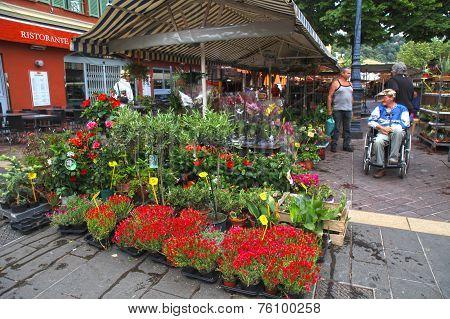 Flower Market On Cours Saleya In Nice