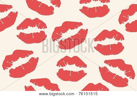 red lips mark seamless background