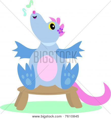 Musical Dragon on a Stool
