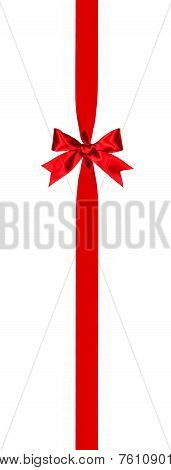 Vertical red bow and ribbon border