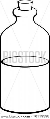 potion or medicine in glass bottle with cork lid poster