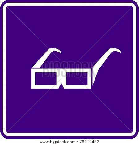 3d glasses sign