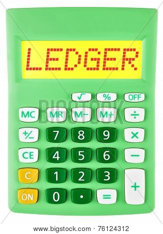 Calculator With Ledger On Display